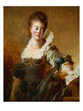 Woman with Sheet Music by Jean-Honore Fragonard