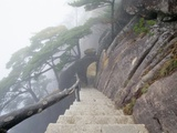 Hillside Path in China&#39;s Yellow Mountains