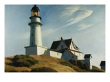 Phare de Two Lights Giclée par Edward Hopper