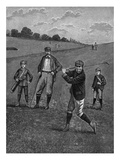 Men In Knickers Playing A Game Of Golf
