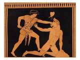 Victory of Theseus over the Minotaur  After a Greek Vase Painting