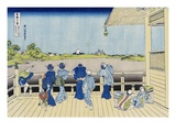 Sazai Hall of the Five-Hundred-Rakan Temple  from the Series Thirty-Six Views of Mount Fuji