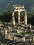 Ruins of Sanctuary of Athena at Delphi
