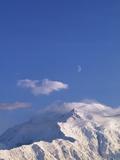 Mount McKinley Under a Half Moon