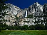 Waterfall and Valley at Yosemite