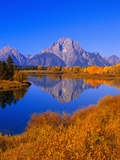 Oxbow Bend Reflecting Mount Moran