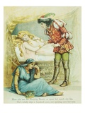 Book Illustration Depicting the Prince with Sleeping Beauty