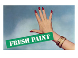 Fresh Paint with Hand  Retro