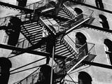 Fire Escapes and Shadows  New York  1944