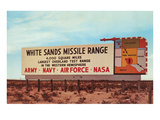 Billboard  White Sands Missile Range  New Mexico