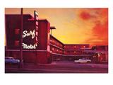 Surf Motel at Sunset  Retro
