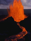 Puu Oo Crater Erupting