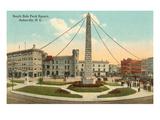 Obelisk in Town Square  Asheville  North Carolina