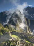 Machu Picchu in Morning Fog