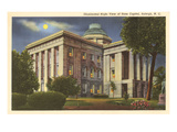 Moon over State Capitol  Raleigh  North Carolina