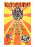 Mississippi Song  Seal  Flag and Flower