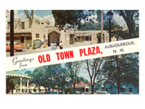 Greetings from Old Town Plaza  Albuquerque  New Mexico