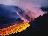 Lava Flowing from Mount Etna
