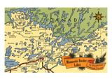Map of Minnesota Border Lakes
