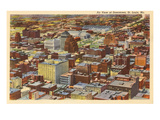 Aerial View of Downtown St Louis  Missouri