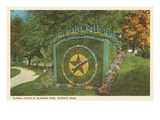 Floral Clock  Gladwin Park  Detroit  Michigan