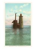 Whaleback Lighthouse  Portsmouth  New Hampshire