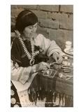 Pueblo Woman Silversmith