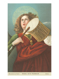Painting of Angel with Drum