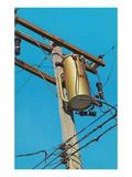Transformer on Telephone Pole