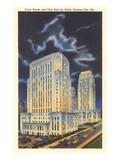 Night  Courthouse and City Hall  Kansas City  Missouri