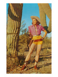 Cowgirl in Shorts by Saguaro  Retro