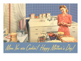 Happy Mothers Day  Mom in Kitchen