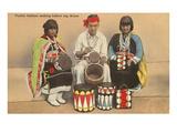 Pueblo Indians Making Drums  New Mexico