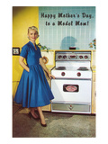 Happy Mothers Day to a Model Mom  with Stove
