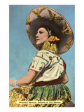 Mexican Senorita with Hat