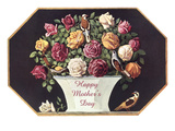 Happy Mother's Day  Urn of Roses