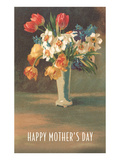 Happy Mother's Day  Vase with Flowers