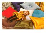 Doll on Pillows  Retro
