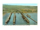 Iron Ore Docks  Duluth Harbor  Minnesota