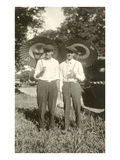 Two Men with Japanese Parasols