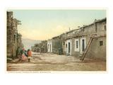 Acoma Pueblo Scene  New Mexico