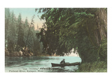 Rowboat on Flathead River  Montana