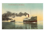 Excursion Steamers on Lake Michigan