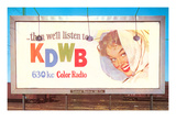 Billboard  Ad for Radio Station  Retro