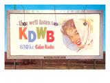 Billboard  Ad for Radio Station  Retro