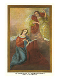 Painting of the Annunciation  San Miguel Church  Santa Fe  New Mexico