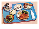 Cafeteria Lunch Tray  Retro