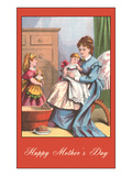 Happy Mothers Day  Victorian Mom with Kids