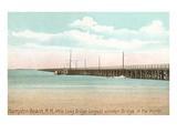 Longest Wooden Bridge  Hampton Beach  New Hampshire
