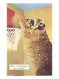 Raccoon Playing Basketball